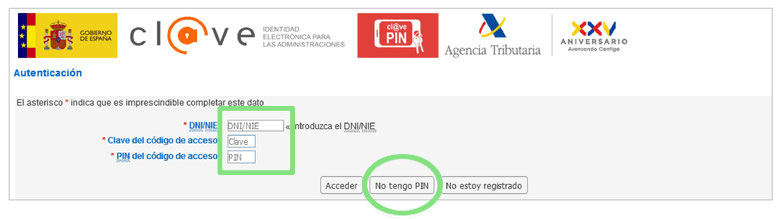 Obtener Cl@ve PIN