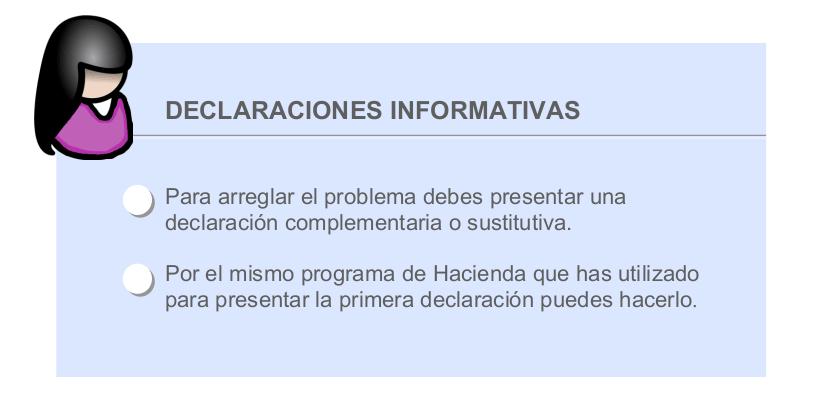 Corregir declaración informativa