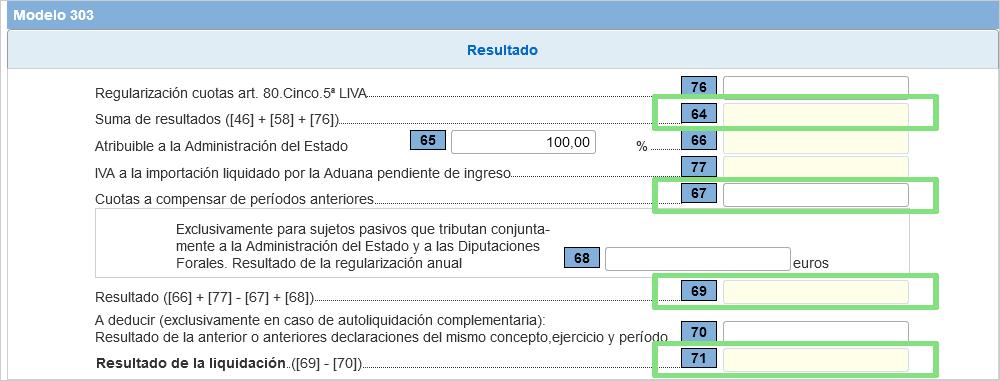 Modelo 303 IVA Resultado