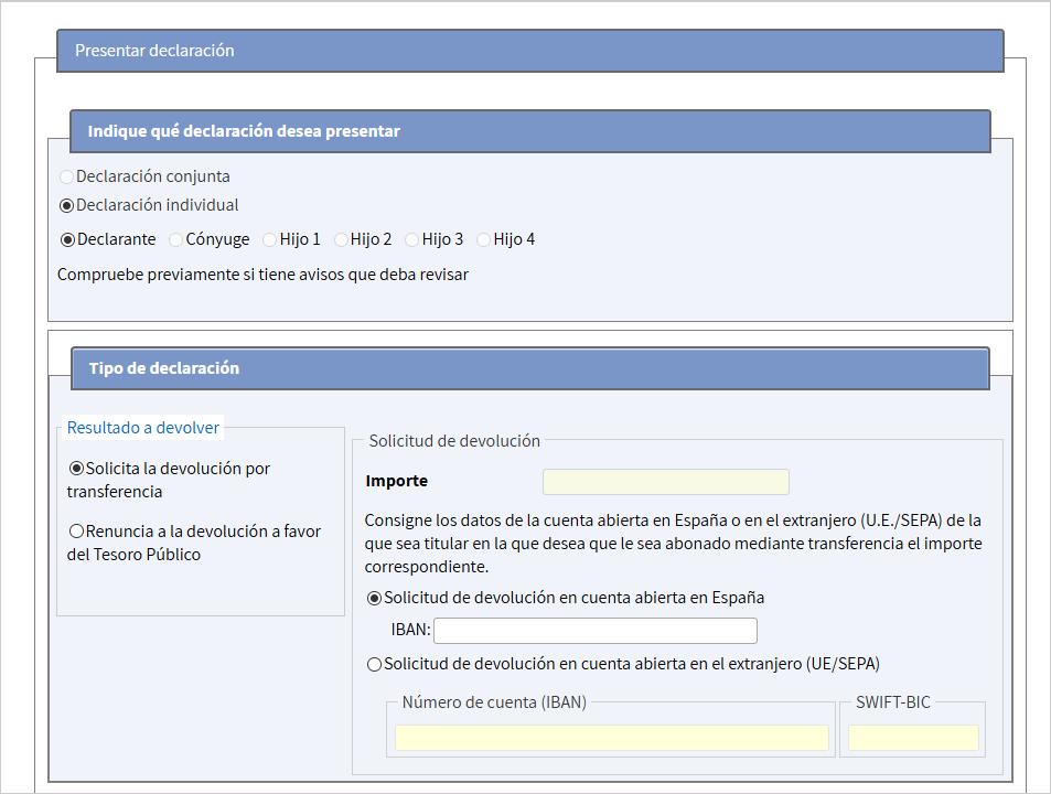 Confirmar borrador: indicar una cuenta bancaria