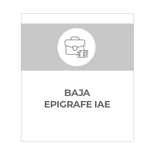 Baja epígrafe IAE
