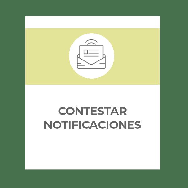 Escritos para contestar notificaciones