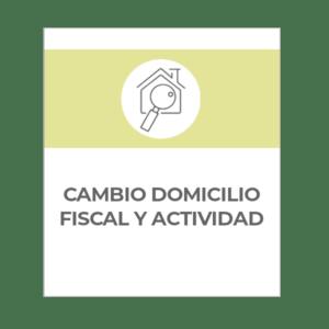Cambio domicilio fiscal y actividad autónomos