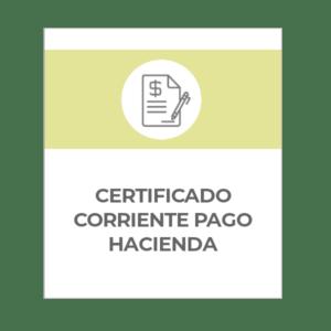 Solicitud certificado corriente pago en Hacienda